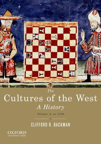 Cultures of the West A History - To 1750  2013 edition cover