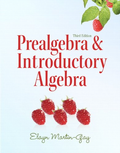 Prealgebra and Introductory Algebra  3rd 2011 edition cover