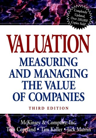 Valuation Measuring and Managing the Value of Companies 3rd 2000 edition cover