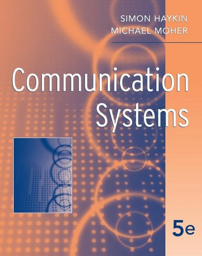 Communication Systems  5th 2009 edition cover