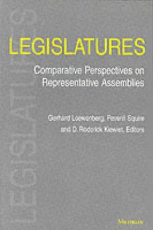 Legislatures Comparative Perspectives on Representative Assemblies  2002 edition cover