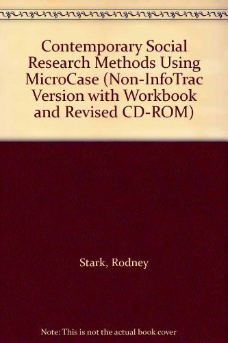 Contemporary Social Research Methods Using MicroCase  3rd 2002 9780534581909 Front Cover