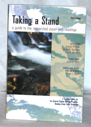 Taking a Stand  2001 9780536631909 Front Cover