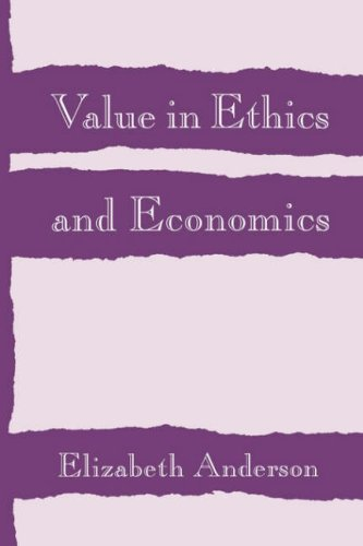Value in Ethics and Economics   1993 edition cover
