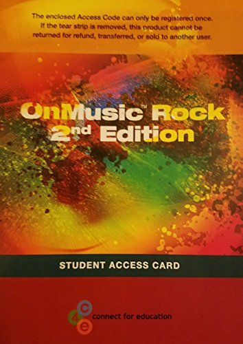 OnMusic Rock 2nd Edition   2013 9780991140909 Front Cover