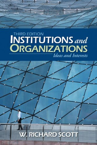 Institutions and Organizations Ideas and Interests 3rd 2008 edition cover