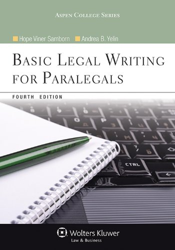 Basic Legal Writing for Paralegals:   2012 edition cover