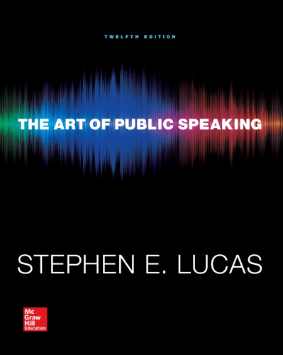 Art of Public Speaking  12th 2015 9780073523910 Front Cover