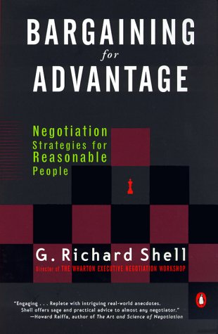 Bargaining for Advantage Negotiation Strategies for Reasonable People N/A 9780140281910 Front Cover