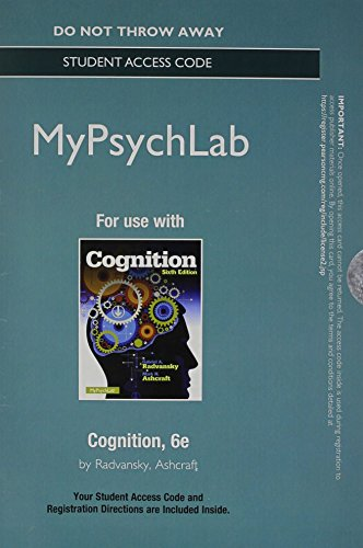Cognition  6th 2014 edition cover