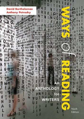 Ways of Reading An Anthology for Writers 9th 2011 edition cover