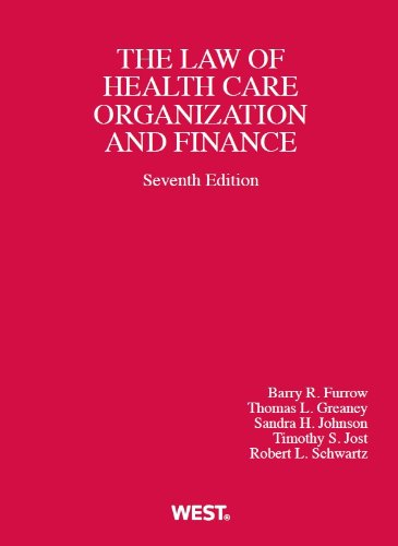 Health Care Organization and Finance:   2013 edition cover
