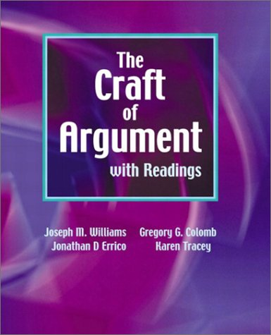 Craft of Argument with Readings   2003 edition cover