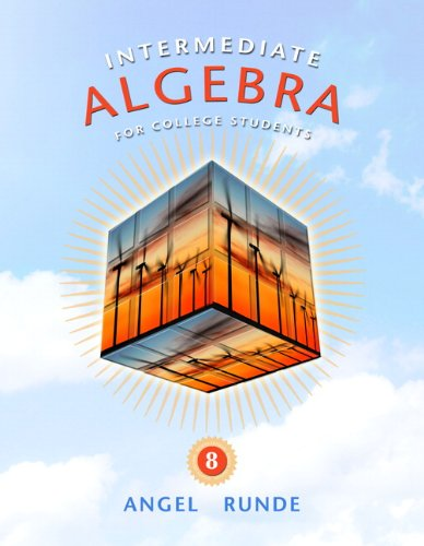 Intermediate Algebra for College Students  8th 2011 edition cover