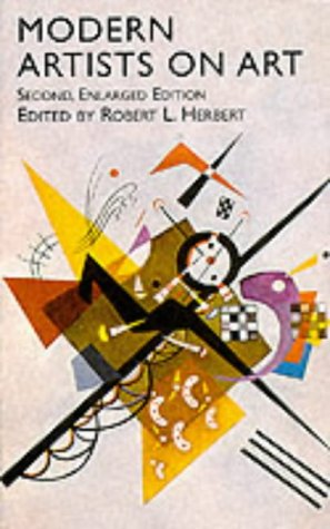 Modern Artists on Art  2nd 2000 edition cover