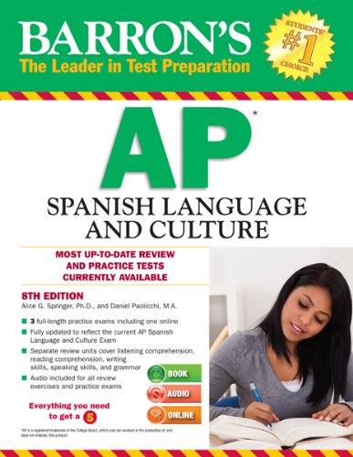Barron's AP Spanish with MP3 CD, 8th Edition  8th 2014 (Revised) edition cover