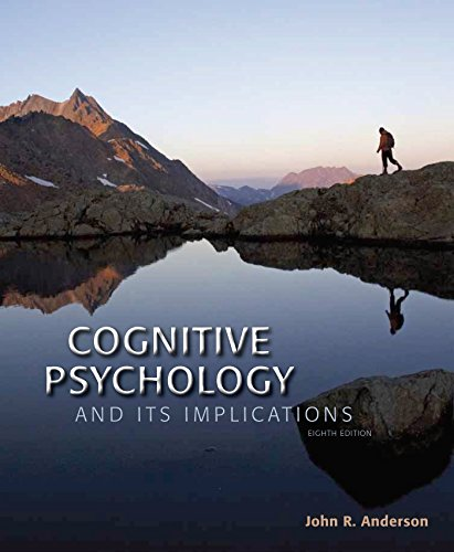 Cognitive Psychology and Its Implications:   2014 9781464148910 Front Cover