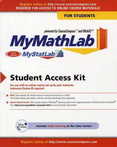 My Mathlab / My Statlab N/A edition cover