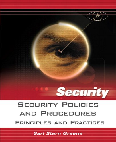 Security Policies and Procedures Principles and Practices  2006 9780131866911 Front Cover