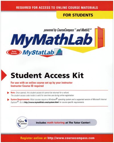 MyLab Math -- Standalone Access Card  4th 2012 (Student Manual, Study Guide, etc.) 9780321199911 Front Cover
