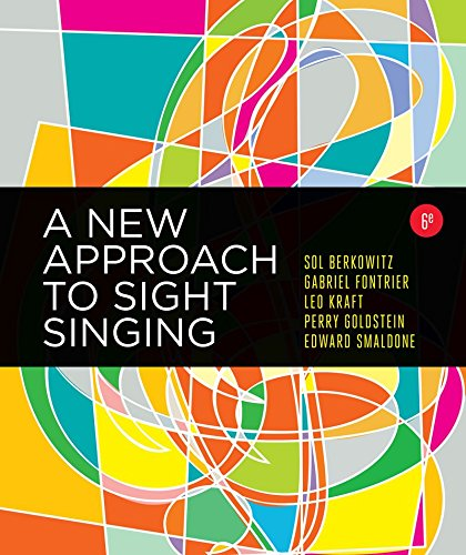 A New Approach to Sight Singing:   2017 9780393284911 Front Cover