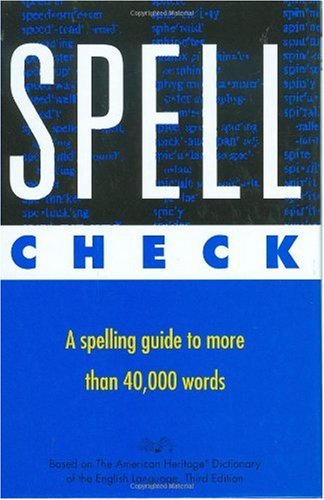 Spell Check   1996 edition cover