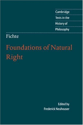 Foundations of Natural Right   2000 9780521575911 Front Cover