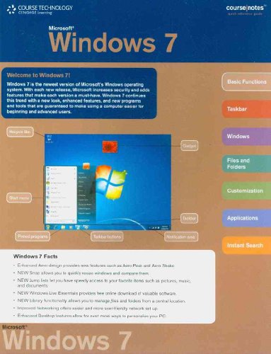 Windows 7 CourseNotes   2010 9780538744911 Front Cover