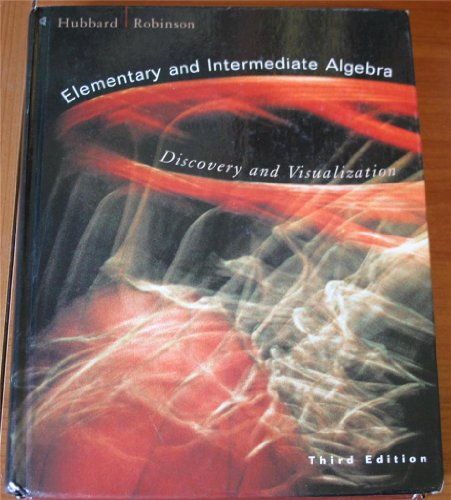 Elementary and Intermediate Algebra Discovery and Visualization 3rd 2002 edition cover