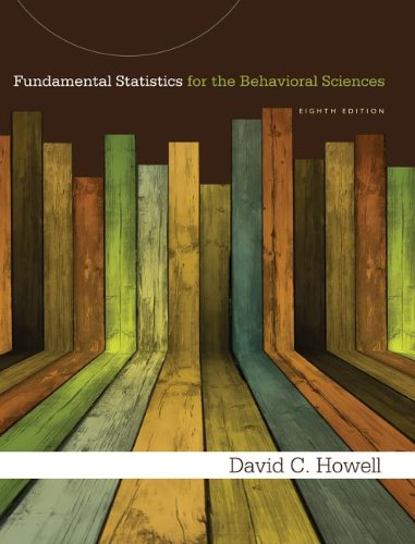 Fundamental Statistics for the Behavioral Sciences:   2013 9781285076911 Front Cover