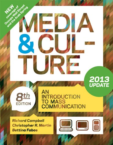 Media and Culture with 2013 Update An Introduction to Mass Communication 8th edition cover