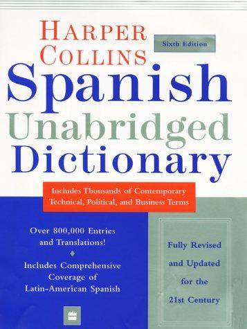 Spanish Unabridged Dictionary  6th 2000 (Unabridged) edition cover