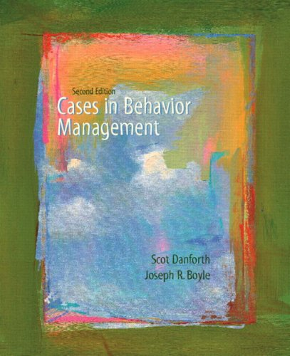 Cases in Behavior Management  2nd 2007 (Revised) edition cover