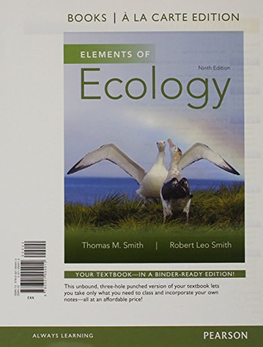 Elements of Ecology: Books a La Carte Edition  2014 edition cover