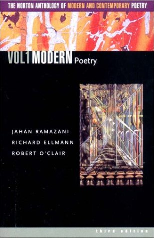 Norton Anthology of Modern and Contemporary Poetry  3rd 2003 edition cover