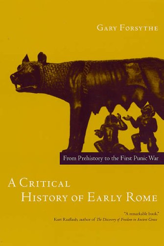 Critical History of Early Rome  N/A edition cover