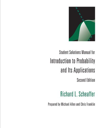 Introduction to Probablitity and Its Applications  2nd 1995 9780534237912 Front Cover
