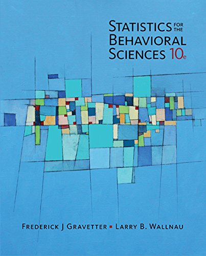 Statistics for the Behavioral Sciences 10th 2016 9781305504912 Front Cover