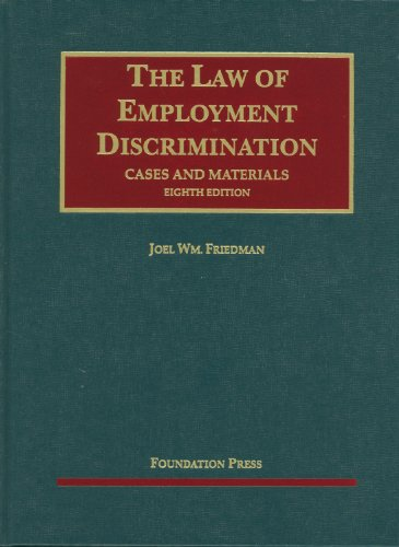 Law of Employment Discrimination Cases and Materials 8th 2011 (Revised) edition cover