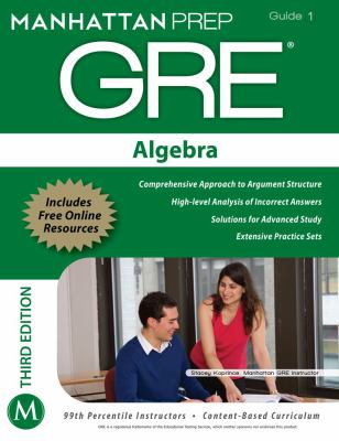 Algebra GRE Strategy Guide, 3rd Edition  3rd (Revised) 9781935707912 Front Cover