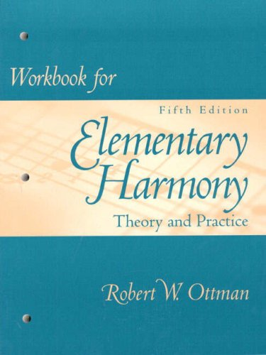 Workbook for Elementary Harmony Theory and Practice 5th 1998 edition cover