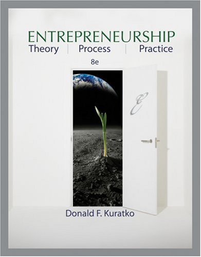Entrepreneurship Theory, Process, and Practice 8th 2009 edition cover
