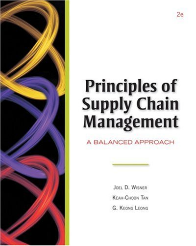 Principles of Supply Chain Management A Balanced Approach 2nd 2009 edition cover