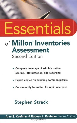 Essentials of Millon Inventories Assessment  2nd 2002 (Revised) 9780471218913 Front Cover