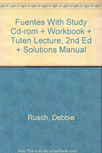 Fuentes and Tuten Lecture and Solutions Manual 2nd 2000 9780618211913 Front Cover