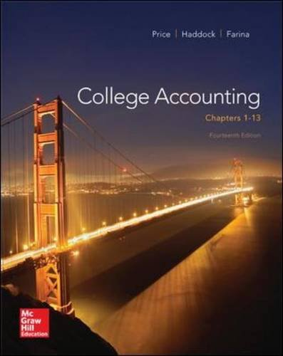 College Accounting, Chapters 1-13  14th 2015 edition cover
