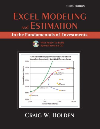 Excel Modeling and Estimation in the Fundamentals of Investments  3rd 2009 edition cover