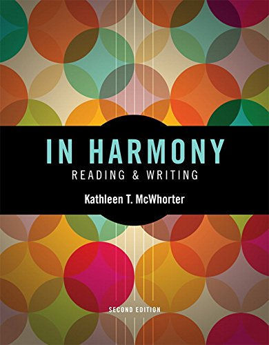 In Harmony: Reading and Writing  2015 edition cover