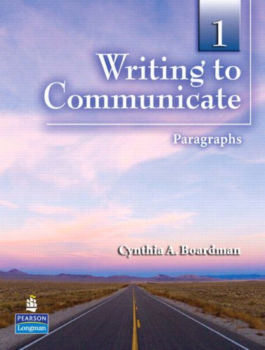 Writing to Communicate Paragraphs  2008 edition cover