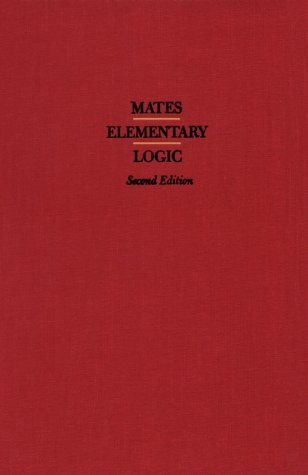 Elementary Logic  2nd 1972 (Revised) edition cover
